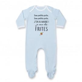 Pyjama bébé J'en ai marre je veux des frites