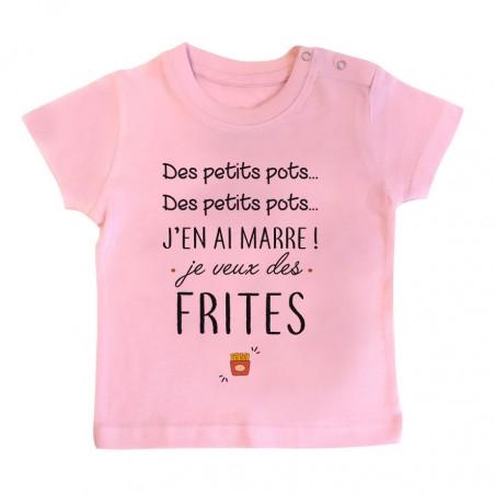 T-Shirt bébé J'en ai marre je veux des frites