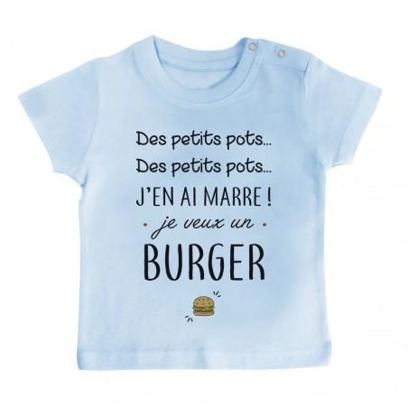 T-Shirt bébé J'en ai marre je veux un burger