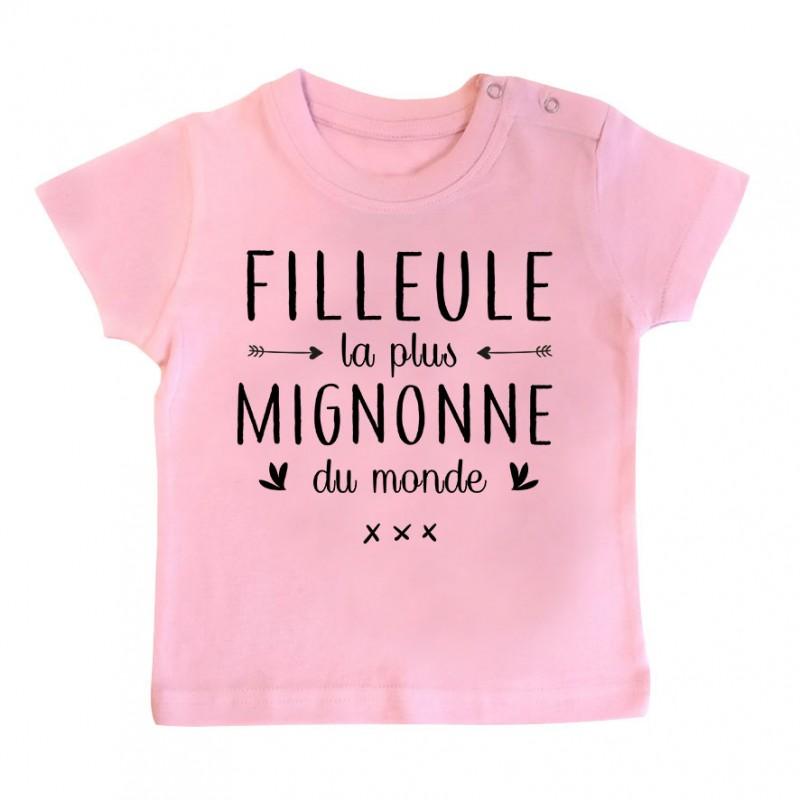 T-Shirt bébé Filleule la plus mignonne du monde