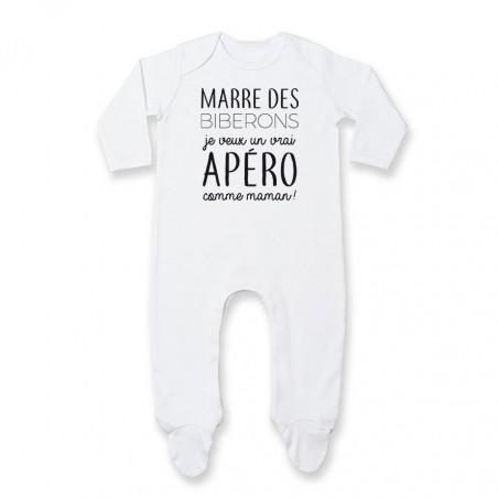Pyjama bébé Je veux un vrai apéro comme maman
