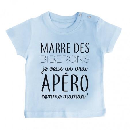 T-Shirt bébé Je veux un vrai apéro comme maman