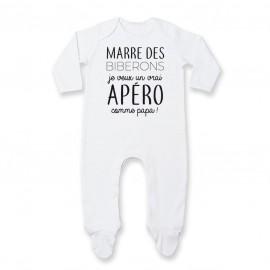 Pyjama bébé Je veux un vrai apéro comme papa