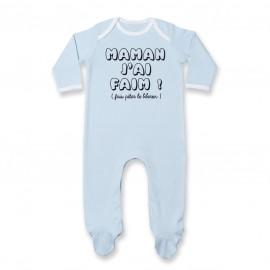 Pyjama bébé Maman j'ai faim