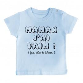 T-Shirt bébé Maman j'ai faim