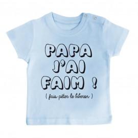 T-Shirt bébé Papa j'ai faim