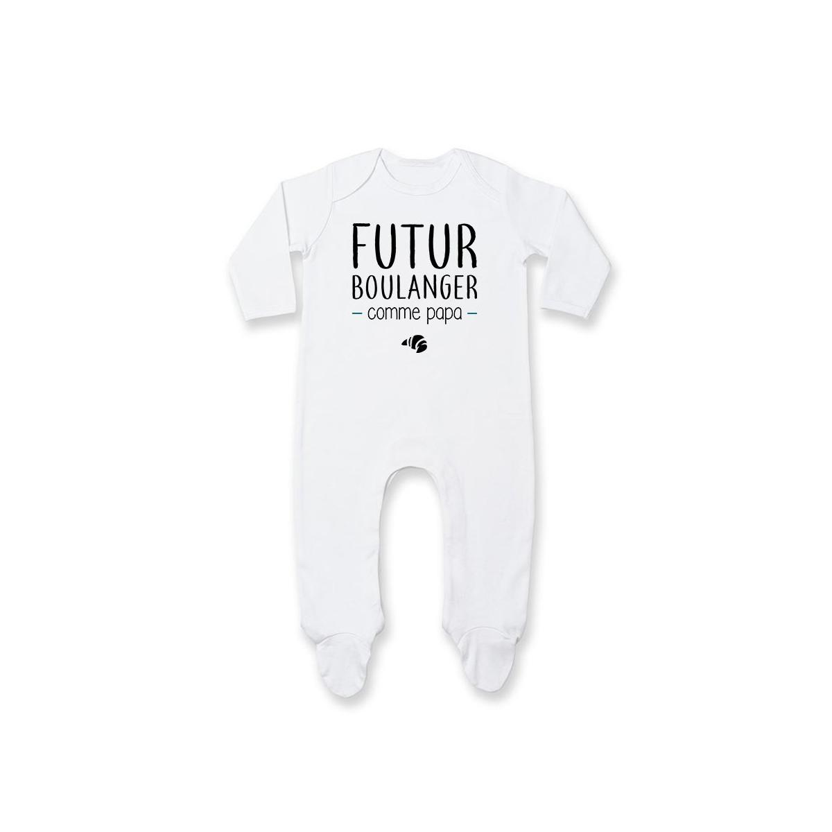 Pyjama bébé Futur boulanger comme papa