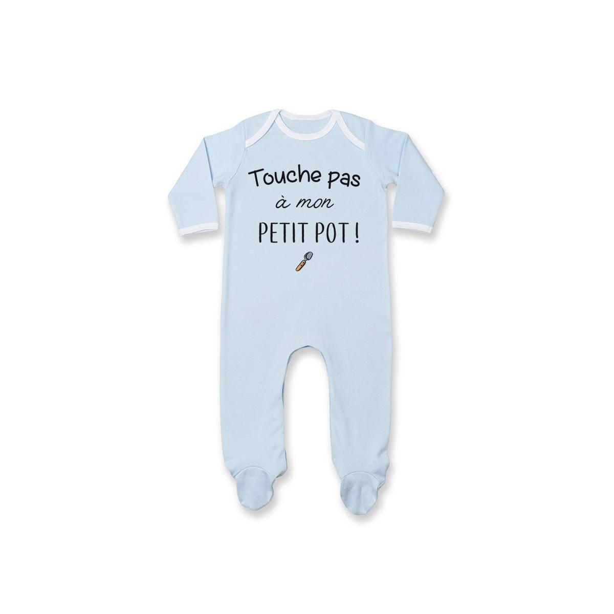 Pyjama bébé Touche pas à mon petit pot