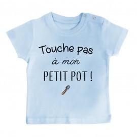 T-Shirt bébé Touche pas à mon petit pot
