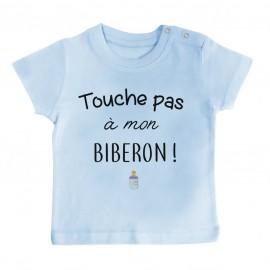 T-Shirt bébé Touche pas à mon biberon