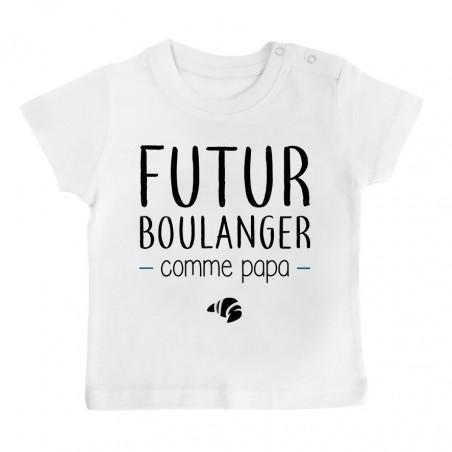 T-Shirt bébé Futur boulanger comme papa