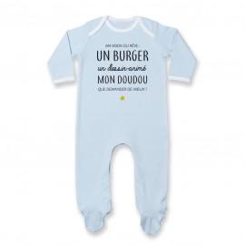Pyjama bébé Ma vision du rêve ( burger )