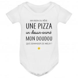 Body bébé Ma vision du rêve ( pizza )