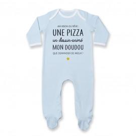 Pyjama bébé Ma vision du rêve ( pizza )