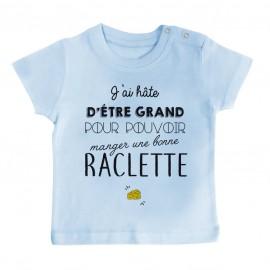 T-Shirt bébé Une bonne raclette