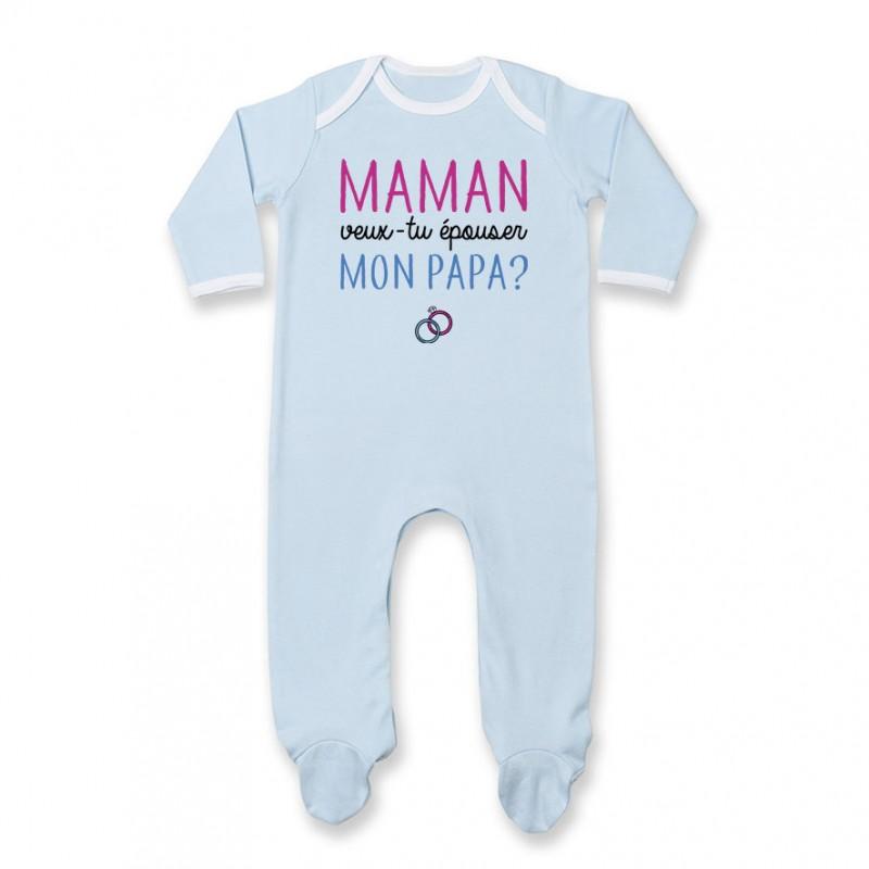 3f269326eb623 Pyjama bébé Maman veux-tu épouser papa