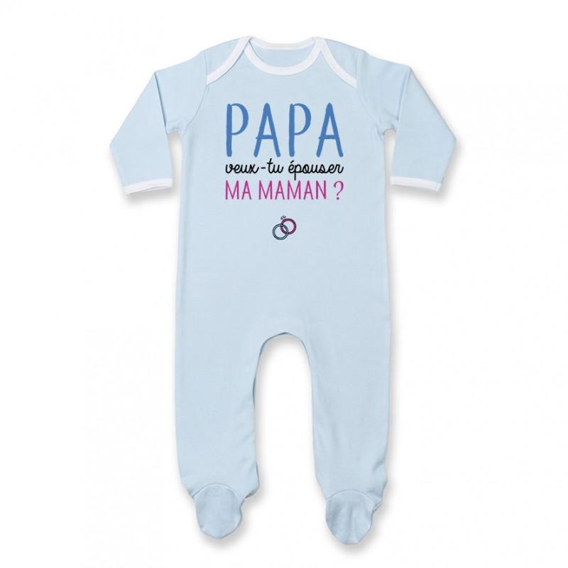 Pyjama bébé Papa veux-tu épouser ma maman ?