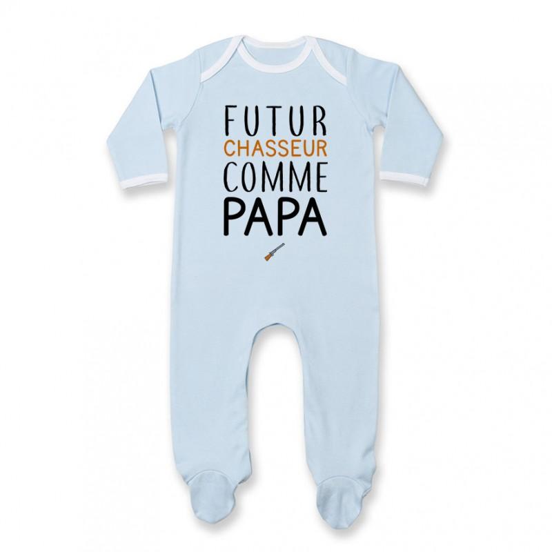Pyjama bébé Futur chasseur comme papa