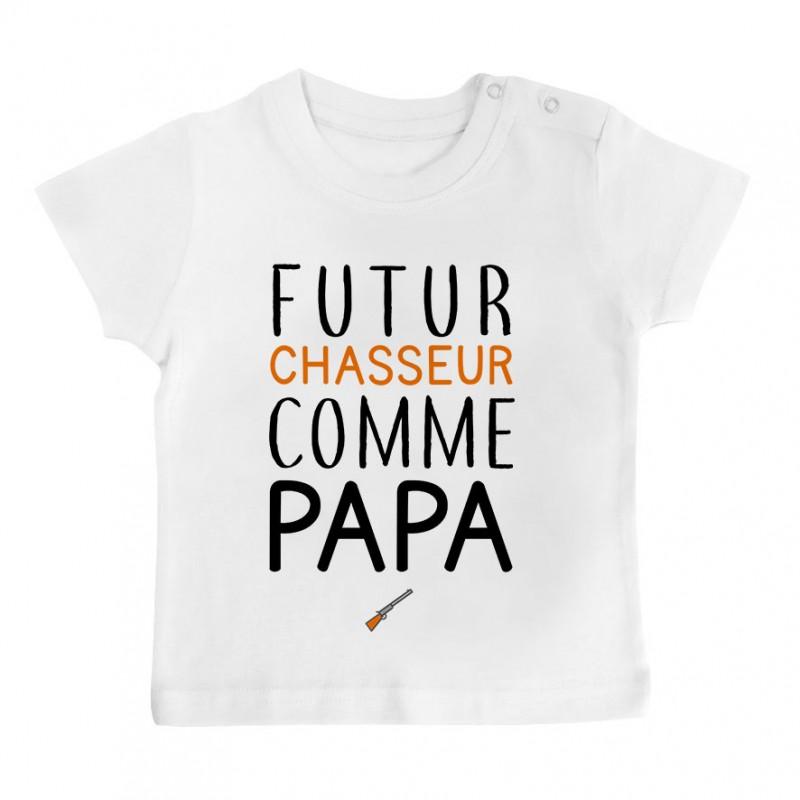T-Shirt bébé Futur chasseur comme papa