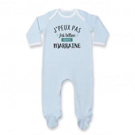 Pyjama bébé J'peux pas j'ai bêtise avec marraine ( version garçon )
