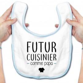 Bavoir bébé Futur cuisinier comme papa