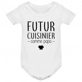 Body bébé Futur cuisinier comme papa