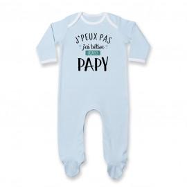 Pyjama bébé J'peux pas j'ai bêtise avec papy ( version garçon )