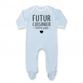 Pyjama bébé Futur cuisinier comme papa