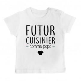 T-Shirt bébé Futur cuisinier comme papa