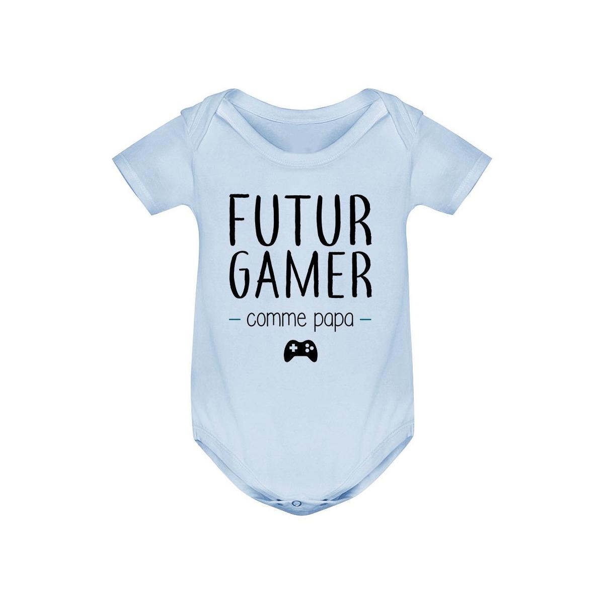 Body bébé Futur gamer comme papa