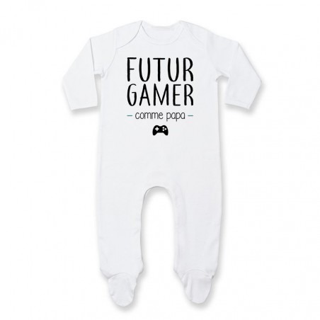 Pyjama bébé Futur gamer comme papa