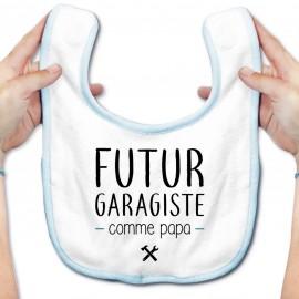 Bavoir bébé Futur garagiste comme papa