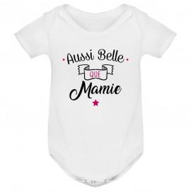 Body bébé Aussi belle que mamie