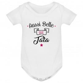 Body bébé Aussi belle que tata