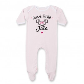 Pyjama bébé Aussi belle que tata