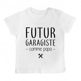 T-Shirt bébé Futur garagiste comme papa