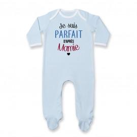 Pyjama bébé Je suis parfait d'après mamie