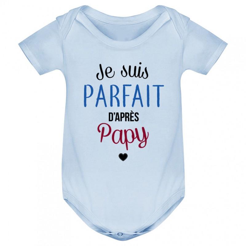 Bavoir bébé Je suis parfait d'après papy
