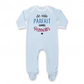 Pyjama bébé Je suis parfait d'après parrain