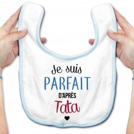 Bavoir bébé Je suis parfait d'après tata