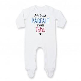 Pyjama bébé Je suis parfait d'après tata