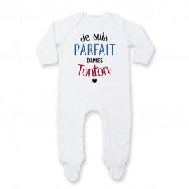 Pyjama bébé Je suis parfait d'après tonton