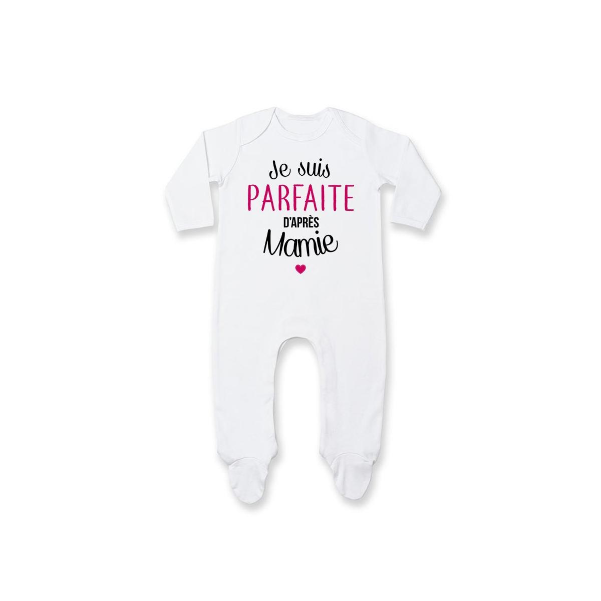 Pyjama bébé Je suis parfaite d'après mamie