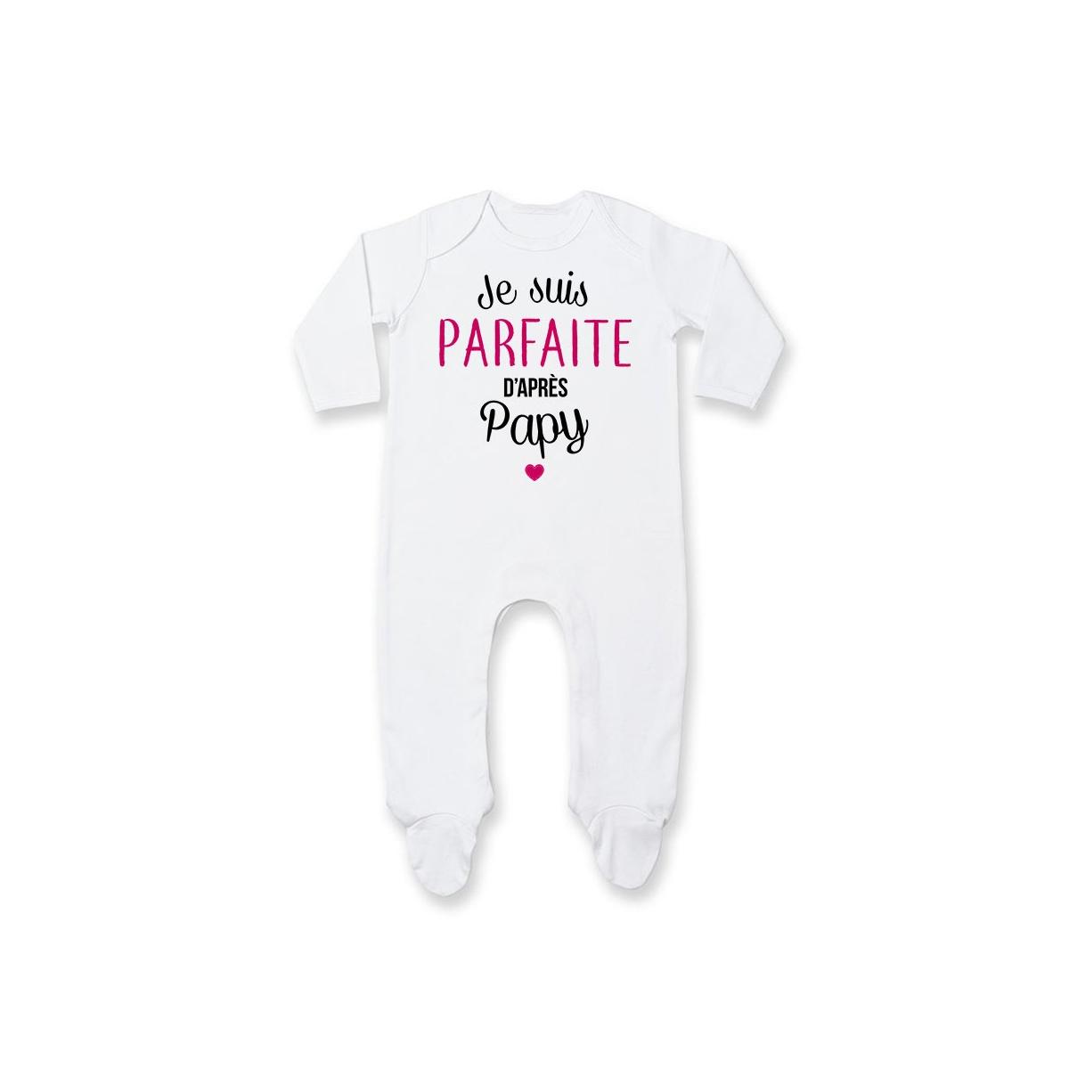 Pyjama bébé Je suis parfaite d'après papy