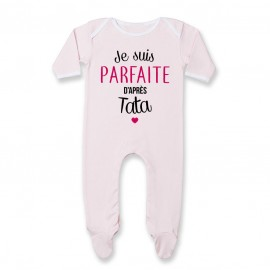 Pyjama bébé Je suis parfaite d'après tata