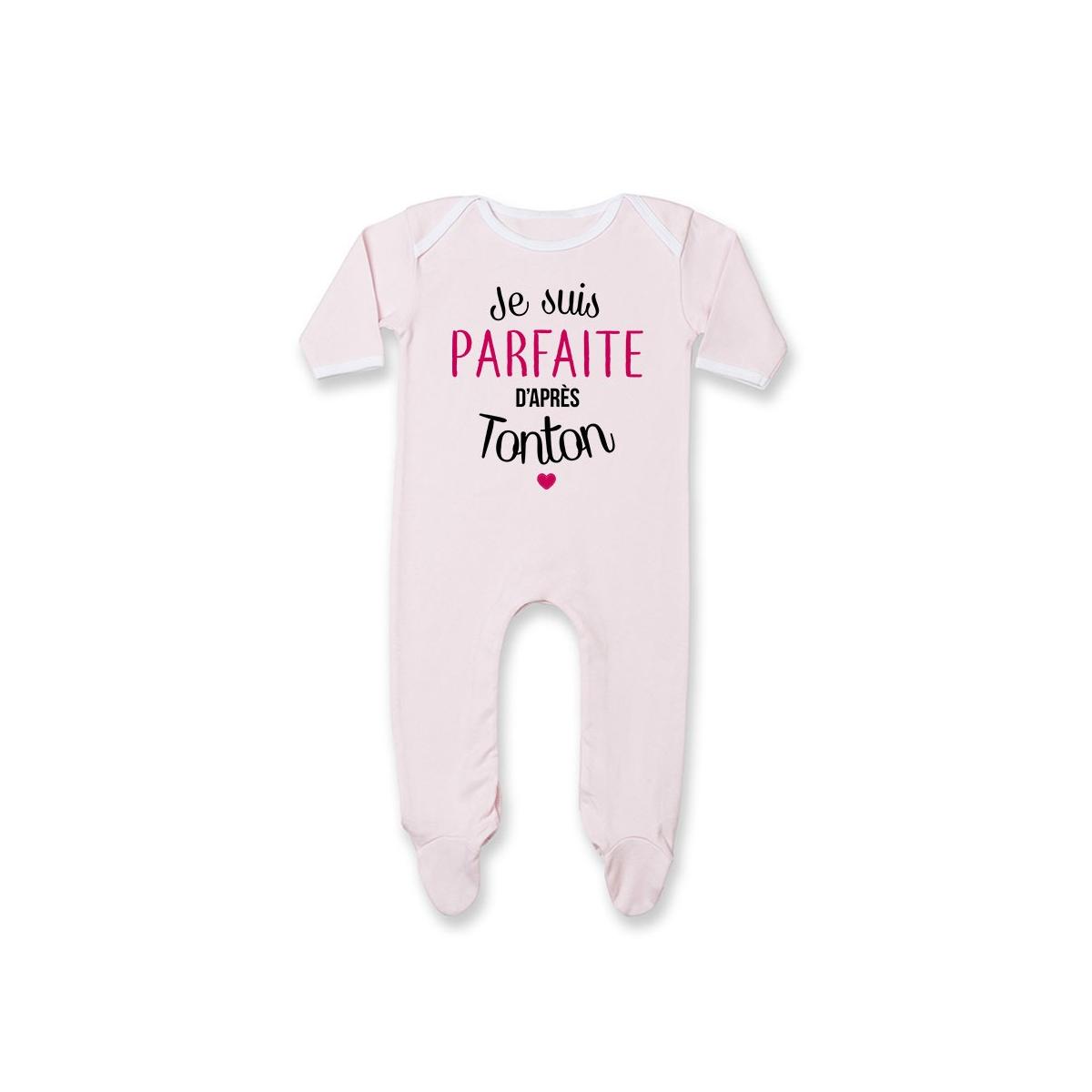 Pyjama bébé Je suis parfaite d'après tonton