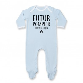 Pyjama bébé Futur pompier comme papa