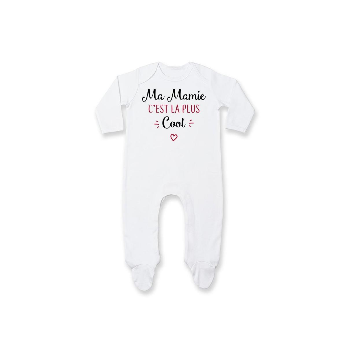 Pyjama bébé Ma mamie c'est la plus cool