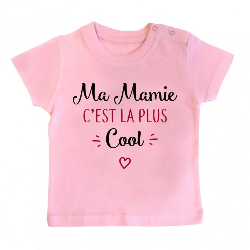 T-Shirt bébé Ma mamie c'est la plus cool