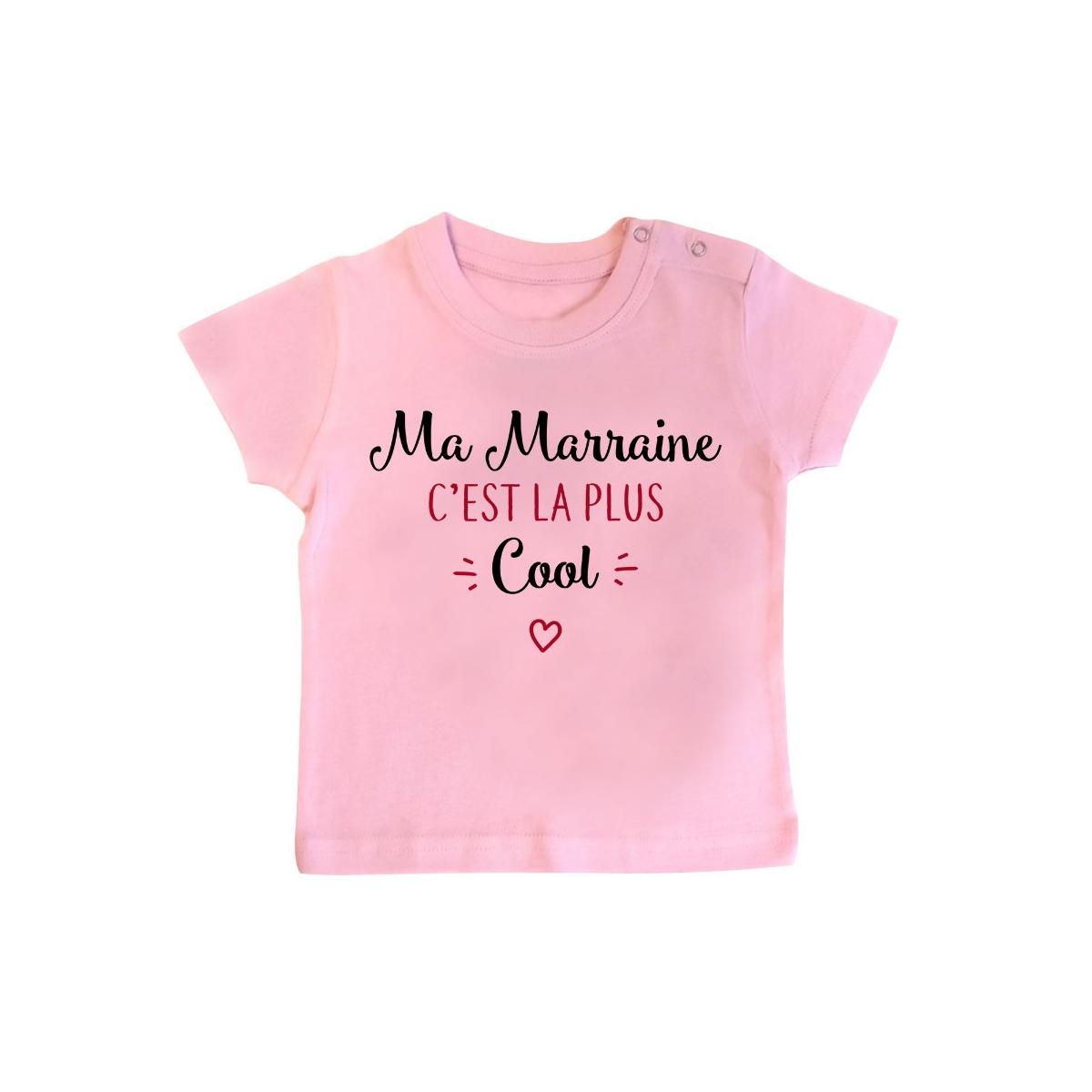 T-Shirt bébé Ma marraine c'est la plus cool
